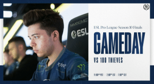 Finals, Memes, and Denmark: PRO  MAXINOMIC  ESL Pro League Season 10 Finals  ESL  GAMEDAY  VS 100 THIEVES  Afins  1oTEE  11:00AM PST  2:00P EST  1:00PM CET Over in Denmark, our CSGO team is completing in the #ESLProLeague Season 10 Finals!   They're up now against @100Thieves in their second Group A match of the day! #LIVEEVIL  https://t.co/vV8vlzOMRn https://t.co/kexQtiMhR2
