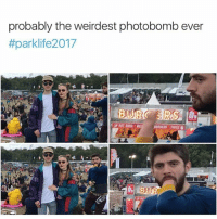 Hands down | Follow @aranjevi for more!: probably the weirdest photobomb ever  #parklife2017  BURGERS FRIES  PROT Hands down | Follow @aranjevi for more!