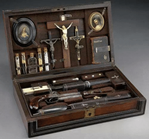 Target, Tumblr, and Hunting: probablypaladinrpgideas:  fvckthecullens:  Antique vampire-hunting kit.I want this just to have it.  Now THIS? This is what i'm talking about.