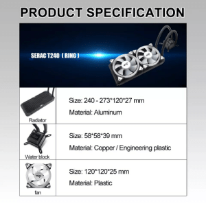 Isnt it bad to mix aluminium and copper: PRODUCT SPECIFICATION  SERAC T240 (RING)  aie  aigo  Size: 240- 273*120*27 mm  Material: Aluminum  Radiator  Size: 58*58*39 mm  algo  Material: Copper /Engineering plastic  Water block  Size: 120*120 25 mm  aigo  Material: Plastic  fan Isnt it bad to mix aluminium and copper