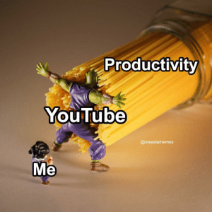 Meirl: Productivity  YouTube  @meestamemes  Me Meirl