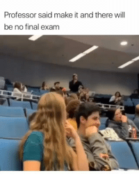Fall, Memes, and Brain: Professor said make it and there will  be no final exam When you zone out small areas of your brain fall asleep