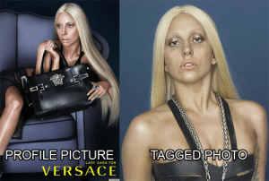 Versace, Tagged, and Photo: PROFILE PICTURE  VERSACE  TAGGED PHOTO  ADY GAGA PO
