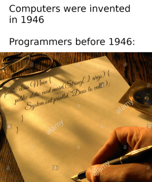 Programmers before computers were invented: Programmers before computers were invented