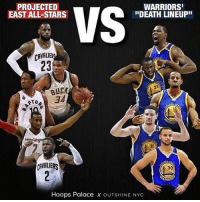 "Who would win in a 7 game series? 🤔 (Via @hoopspalace, @outshinenyc): PROJECTED  EAST ALL-STARS  WARRIORS  ""DEATH LINEUPII  CAVALIER  23  BUCK  34  RTO  AVALIERS  30  Hoops Palace x OUTSHINE NYC Who would win in a 7 game series? 🤔 (Via @hoopspalace, @outshinenyc)"