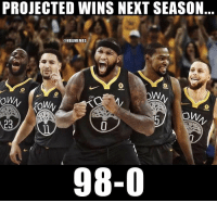 SMDH: PROJECTED WINS NEXT SEASON  @NBAMEMES  98-0 SMDH