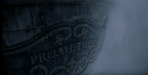 """In William Hurt's two-part Frankenstein miniseries, a brief showing of Captain Walton's ship is on-screen. The name of the ship is """"Prometheus"""", which is a subtle nod to the original name of the novel """"Frankenstein; or, The Modern Prometheus"""".: PROMETH In William Hurt's two-part Frankenstein miniseries, a brief showing of Captain Walton's ship is on-screen. The name of the ship is """"Prometheus"""", which is a subtle nod to the original name of the novel """"Frankenstein; or, The Modern Prometheus""""."""