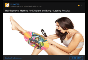 Hair, Com, and Shop: PROMOTED  u/HealthyAdvice besthealthadvices.com  Hair Removal Method for Efficient and Long - Lasting Results.  PELLEIRS  SHOP NOW  besthealthadvices.com Just fixing reddit's ads