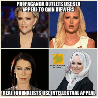 PROPAGANDA OUTLETSUSESEX  APPEAL TO GAIN VIEWERS  MINT PRESS  NEWS  REALJOURNALISTSUSEINTELLECTUAL APPEAL Abby Martin > Tomi Lahren