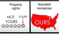 Socialism, Socialist, and Nonsense: Property  rights  Socialist  nonsense  NOT YOURS  YOURS  OURS