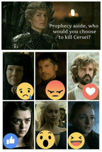 Memes, 🤖, and Who: Prophecy aside, who  would you choose  to kill Cersei?
