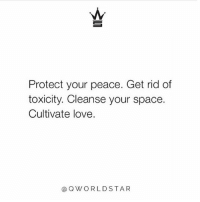 """Life, Love, and Memes: Protect your peace. Get rid of  toxicity. Cleanse your space.  Cultivate love.  aQWORLDSTAR """"Don't put up with or accept less than great in your life...eliminate what no longer serves you..."""" ✌️ @QWorldstar PositiveVibes WSHH"""