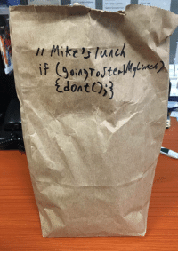 Work, Coding, and  Lunch: Protecting my lunch at work with CODING and ALGORITHMS