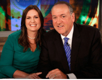 White House, House, and White: Proud father, Gov. Mike Huckabee.  Sarah Huckabee Sanders is doing a fantastic job as White House Press Secretary!