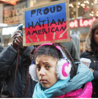 "Be PROUD little one and rise up! We got your back! 🇭🇹✊🏿✊🏽✊🏾✊🏼 Repost @activistnyc: ""On Martin Luther King Jr. Day, the Haitian and African American communities gathered in Times Square for a direct action in response to Donald Trump's recent comments about Haitian and African immigrants. During a meeting with lawmakers, Trump described Haiti and certain African countries as ""shithole countries"" and questioned why so many immigrants from these countries are coming to the United States. Although Trump denies being a racist, he has become the role model for white supremacists in America. The fight against racism and oppression that Martin Luther King Jr. started during the civil rights movement is far from over. Today, we remember his legacy and continue his fight for justice and equality."" shitholecountries shitholepresident martinlutherking martinlutherkingjr MLK MLKday immigrants immigrantsmakeamericagreat immigrantswelcome immigrantsarewelcomehere immigrantrights immigration immigrantnation haiti haitian haitianamerican african africanamerican racism injustice oppression fucktrump dumptrump trumpsucks impeachtrump resist resisttrump activistny documentaryphotography photojournalism: PROUD  HATIAN  AMERICAN Be PROUD little one and rise up! We got your back! 🇭🇹✊🏿✊🏽✊🏾✊🏼 Repost @activistnyc: ""On Martin Luther King Jr. Day, the Haitian and African American communities gathered in Times Square for a direct action in response to Donald Trump's recent comments about Haitian and African immigrants. During a meeting with lawmakers, Trump described Haiti and certain African countries as ""shithole countries"" and questioned why so many immigrants from these countries are coming to the United States. Although Trump denies being a racist, he has become the role model for white supremacists in America. The fight against racism and oppression that Martin Luther King Jr. started during the civil rights movement is far from over. Today, we remember his legacy and continue his fight for justice and equality."" shitholecountries shitholepresident martinlutherking martinlutherkingjr MLK MLKday immigrants immigrantsmakeamericagreat immigrantswelcome immigrantsarewelcomehere immigrantrights immigration immigrantnation haiti haitian haitianamerican african africanamerican racism injustice oppression fucktrump dumptrump trumpsucks impeachtrump resist resisttrump activistny documentaryphotography photojournalism"