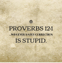 From thebibleisfunny.com! 😂  When you're up late writing Proverbs so you start getting straight to the point:: PROVERBS 121  WHOEVER HATES CORRECTION  IS STUPID From thebibleisfunny.com! 😂  When you're up late writing Proverbs so you start getting straight to the point: