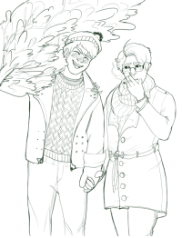 pruausadventcalendar:  Day 23 - Buying the Tree by @wandschrankheld The stress gets worst for Roderich on Christmas Eve, but Gilbert is quick to make a fool of himself to try and cheer him up. (It works every time).  : pruausadventcalendar:  Day 23 - Buying the Tree by @wandschrankheld The stress gets worst for Roderich on Christmas Eve, but Gilbert is quick to make a fool of himself to try and cheer him up. (It works every time).