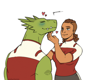 Love, Tumblr, and Blog: Prvv.  sacchavinerose saccharinerose:  All reptiles love chin scratches, even the humanoid ones