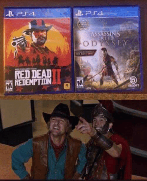 The greatest cross-over in history by AustralianHusky MORE MEMES: PS4  ASSASSINS  CREED  ODYSSEY  TARENE  RED DEAD  REDEMPTION  UBrSOFT The greatest cross-over in history by AustralianHusky MORE MEMES