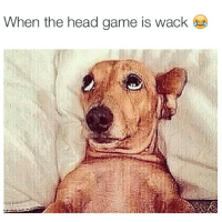 😢😂😂: When the head game is wack 😢😂😂