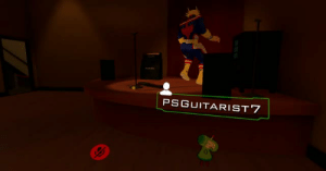 Prince, Taken, and Tumblr: PSGUITARIST 7 spiroandthelacktones:  cherry-flavored-sigh: taken last night in vrchat, a girl with an all might avatar was tearing it upthen i asked my boyfriend (the prince) to go join her  Can you believe how wrong media like ready player one is about online games