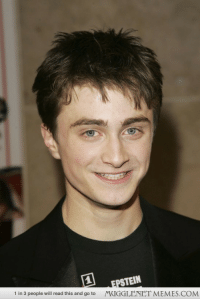"""Memes, Http, and Com: PSTEIN  MUGGLENET MEMES.COM  1 in 3 people will read this and go to <p>Daniel on March 13 2006 <a href=""""http://ift.tt/1F3eYqZ"""">http://ift.tt/1F3eYqZ</a></p>"""