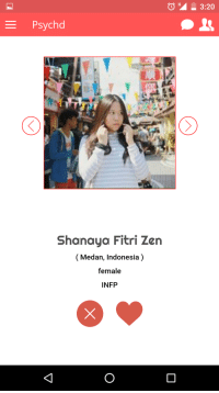"Google, Lol, and Tumblr: Psychd  Shanaya Fitri Zen  (Medan, Indonesia)  female  INFP <p><a class=""tumblr_blog"" href=""http://lol-coaster.tumblr.com/post/150883732237"">lol-coaster</a>:</p> <blockquote> <p>  Psychd - A personality based social network and match making<br/>Discover and mingle with people compatible with your personality<br/><br/></p> <p>Download Now : Play Store: <a href=""https://play.google.com/store/apps/details?id=me.psychd&amp;hl=en"">https://play.google.com/store/apps/details?id=me.psychd&amp;hl=en</a>  <br/></p> </blockquote>"