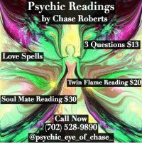 Psychic Readings by Chase Roberts 3 Questions $13 Love