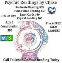 Psychic Readings by Chase Soulmate Reading $39 Twin Flame Reading