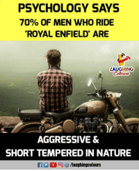 PSYCHOLOGY SAYS 70% OF MEN WHO RIDE ROYAL ENFIELD ARE LAUGHING