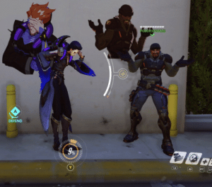 True, Tumblr, and Aesthetic: PU ZIEDPSYCHE  DEFEND  9%  LB  RB  RT LT justicerainsfromaugh:  Matching your emote with your spray is a true aesthetic