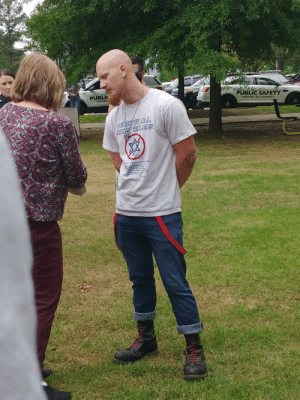 This fucker showed up to an anti Nazi protest at my university: PUBLI  PUBLIC SAFETY  ARKANSAS TECH UNIVERSITY  TO ALL This fucker showed up to an anti Nazi protest at my university