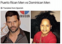 🤔: Puerto Rican Men vs Dominican Men  Translate from Spanish  UNIVISION 🤔