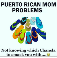 PUERTO RICAN MOM  PROBLEMS  Not knowing which Chancla  to smack you with....