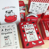 Memes, Pugs, and Stuff: PUG CCrNo  CA A S  Etiquette  GEMMA CORRELL  ANCE  DANCE  A PUG's  Datin  GEMMA CORRELL Did you know that @ohhdeer have a shop in (my hometown) Ipswich now? Well, they do. And it's full of pug stuff. ❤️ pugstagram apugsguidetoetiquette