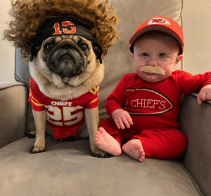 Pugtrick Mahomes and Candy Reid: Pugtrick Mahomes and Candy Reid