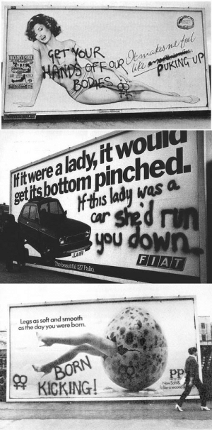 Smooth, Target, and Tumblr: PUKING UP   ettsbottom pinched  t this lady was a  fitwerea lady it would  you down  Thebeautiful 127 Palio   as soft and smooth  asthe day you were borm.  Pp  KICKING  New Soft & radicalgraff:1970′s feminist vandalism