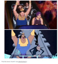 """Kronk: """"Pull the lever, Kronk! (via abbotcellach)"""