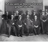 pants up: Pull your pants up, these are what actual  gangsters look like