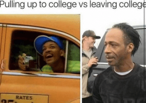 pulling: Pulling up to college vs leaving college  RATES