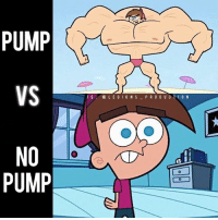 Clothes, Facebook, and Gym: PUMP  VS  NO  PUMP  L E G I O N S  P R O D U C  O N 😳😂😂PUMP VS NO PUMP! Founder 👉: @king_khieu. The feels. True or false? Can you 🤣 relate? Thoughts? 🤔Opinions? What do you guys think? COMMENT BELOW! Athlete: Timmy Turner from Fairly Odd Parents. TAG SOMEONE who needs to lift! _________________ Looking for unique gym clothes? Use our 10% discount code: LEGIONS10🔑 on Ape Athletics 🦍 fitness apparel! The link is in our 👆 bio! _________________ Principal 🔥 account: @fitness_legions. Facebook ✅ page: Legions Production. @legions_production🏆🏆🏆