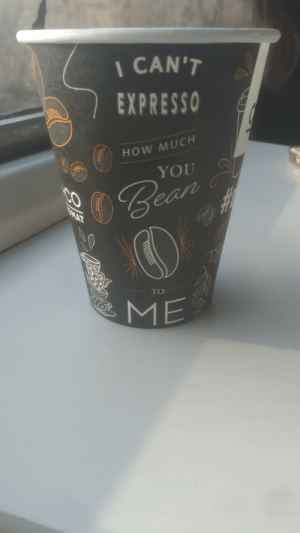 Punny coffee cup: Punny coffee cup