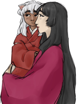 Target, Tumblr, and Blog: purahs: i promise im gonna catch up w inuvember over the weekend,,, in the meanwhile have izzy holding her baby Yasha for @wreathoflaurels : )))))