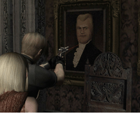 Dude, Tumblr, and Blog: pureslime: strider17:  midtown120blues:  catburger: I am re playing Resident Evil 4 and what the hell is this when they say be there or be square and you dont show up   It's him. It's president evil.    Had enough of this dude