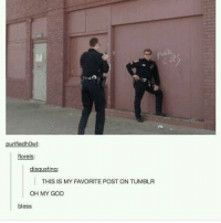 Fuck the Police, Funny, and God: purifiedhowl  florels:  THIS IS MY FAVORITE POST ON TUMBLR  OH MY GOD Fuck the police💅 Follow me ( @god.of.appleysauce )for more funny tumblr and textpost