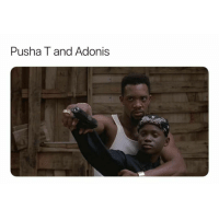 Pusha T., Dank Memes, and Adonis: Pusha T and Adonis Some of y'all too young to understand this 😂😂😂😂😂