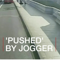 "This woman had a lucky escape after appearing to be 'pushed' by a jogger into the path of a London bus. Police have praised the ""superb quick reactions"" of the driver who swerved to avoid hitting the 33-year-old. She wasn't badly hurt. jogging run running london putney police cctv BBCShorts BBCNews @bbcnews: PUSHED  BY JOGGER This woman had a lucky escape after appearing to be 'pushed' by a jogger into the path of a London bus. Police have praised the ""superb quick reactions"" of the driver who swerved to avoid hitting the 33-year-old. She wasn't badly hurt. jogging run running london putney police cctv BBCShorts BBCNews @bbcnews"