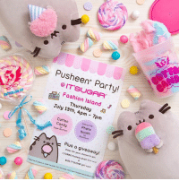 Have you heard the buzz? IT'SUGAR​ is hosting a Pusheen party at their Fashion Island​ store in Newport Beach, CA! They'll have free cotton candy, a free photobooth & a raffle giveaway for 1 Jumbo Pusheen plush and $100 It'Sugar gift card! Stop by on July 13, between 4-7pm and join the fun! ✨🐱🍬: Pusheen Party!  @IT'SUGAR  Foshion Island  Thursday a  July 13th, 4pm 7pm  Interactive  Cotton  Candy Photo  : booth  Sugor Bouffant  Plus a giveaway!  Enter for your chonce to win:  1 JUMBO Pusheen plush ($39 valve  $100 IT SUGAR gift card Have you heard the buzz? IT'SUGAR​ is hosting a Pusheen party at their Fashion Island​ store in Newport Beach, CA! They'll have free cotton candy, a free photobooth & a raffle giveaway for 1 Jumbo Pusheen plush and $100 It'Sugar gift card! Stop by on July 13, between 4-7pm and join the fun! ✨🐱🍬