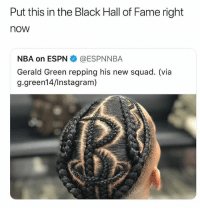Damn he must be rank 150 in GTA to get that cut • Follow @savagememesss for more posts daily: Put this in the Black Hall of Fame right  now  NBA on ESPN@ESPNNBA  Gerald Green repping his new squad. (via  g.green14/Instagram) Damn he must be rank 150 in GTA to get that cut • Follow @savagememesss for more posts daily