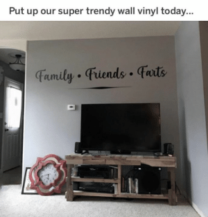 Trendy: Put up our super trendy wall vinyl today...  Famity Fiends faits